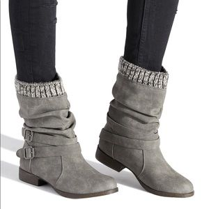 JUST FAB MORLAN WRAPAROUND BUCKLE BOOTIE